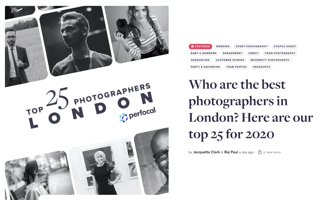 Top 25 London Photographers